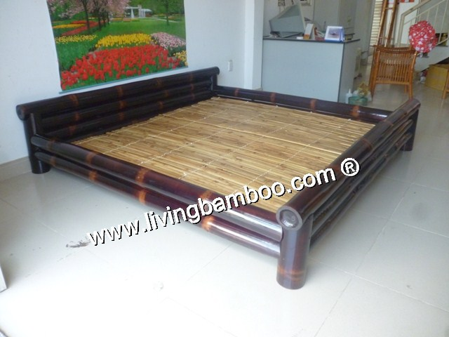 Bamboo Bed-CAN GIO BED BLACK COLOUR