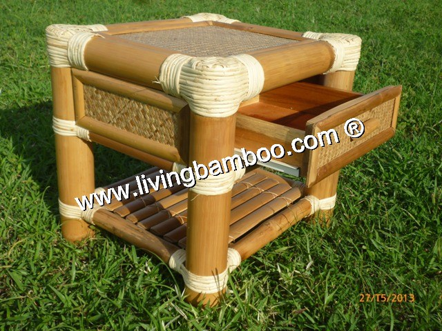 Bamboo Bed-SAI GON BED SIDE TABLE