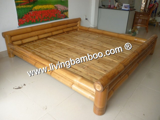 Bamboo Bed-CAN GIO BED NATURAL COLOUR
