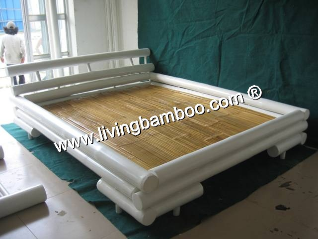 Bamboo Bed-SAI GON BED WHITE