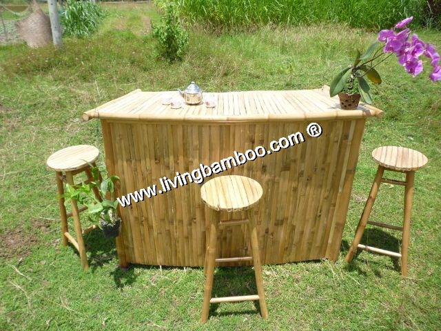 Bamboo Tiki Bar-HAFT MOON BAR NATURAL COLOUR