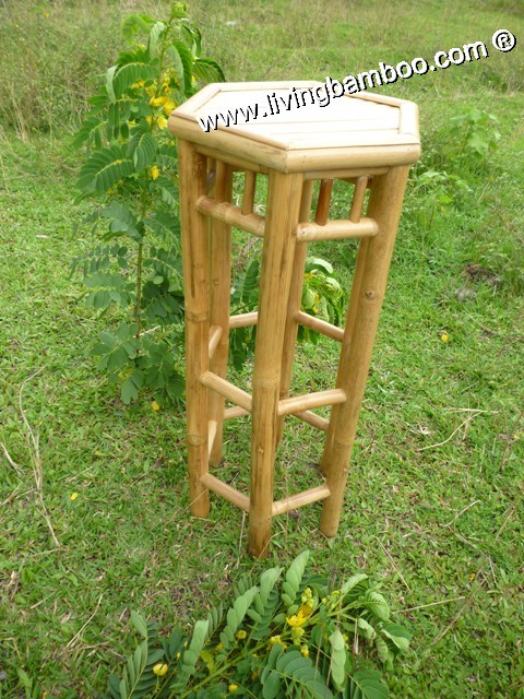 Bamboo Bar Chair and Stool, Bamboo Bar Chair & Stool-Fiji Bamboo Hexagon Stool