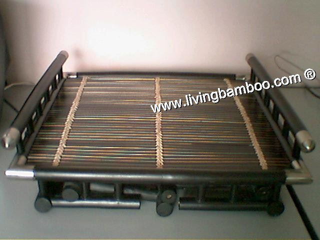 Bamboo Table-SILVER TRAY FOLDING TABLE
