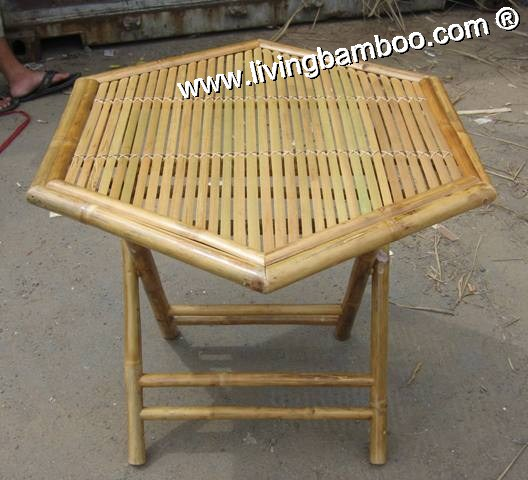 Bamboo Table-HEXAGON FOLDING TABLE