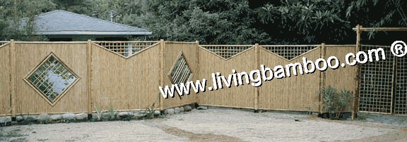 Bamboo Pergola and Gate-Animal Garden Fence With Gate