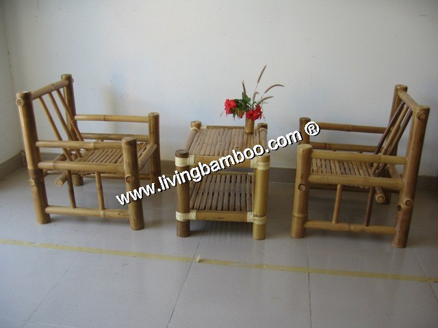 Bamboo Living Room-HILTON LIVING SET