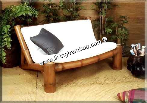 Bamboo Living Room-HAMBURG 2 SEAT SOFA
