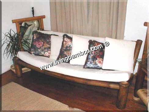 Bamboo Living Room-HAMBURG 3 SEAT SOFA