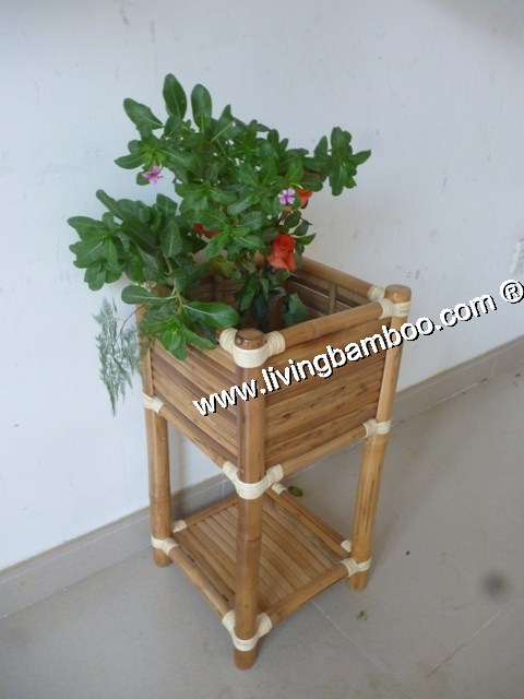 Small Bamboo Products-BAMBOO FLOWER VASESHELF