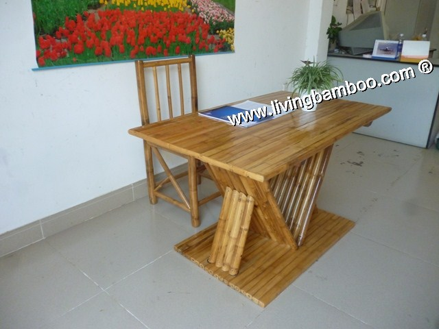 Bamboo Dining Room-PISA DINING SET NATURAL