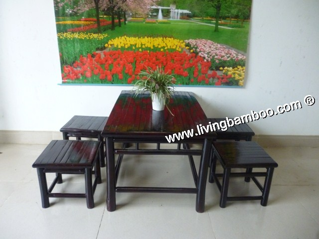 Bamboo Dining Room-LOW TABLE SET
