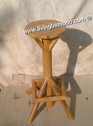 Bamboo Stool-UMBRELLA BAR ROUND STOOL