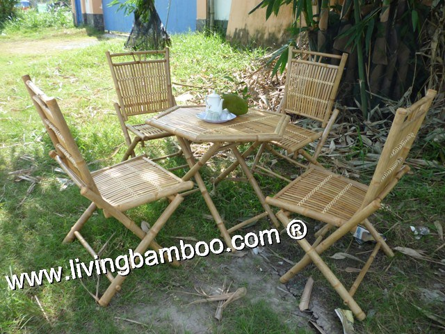Bamboo Dining Set-MONACO BEACH SET