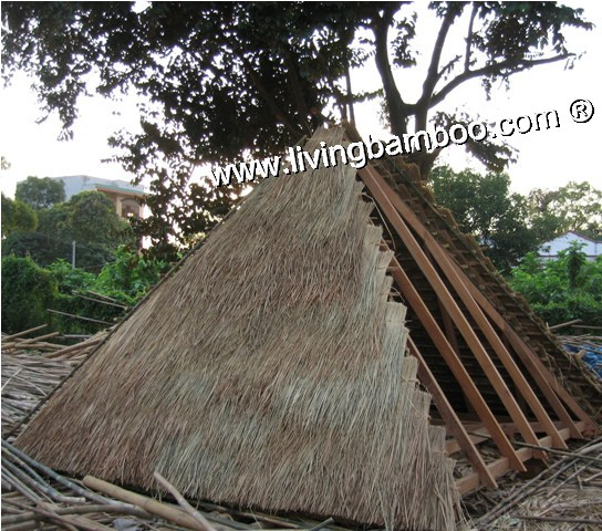 Bamboo Natural Meterial-PYRAMID THATCH ROOF