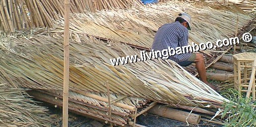 Bamboo Natural Meterial-COCONUT ROOF PANEL READY FOR ASSEMBLING