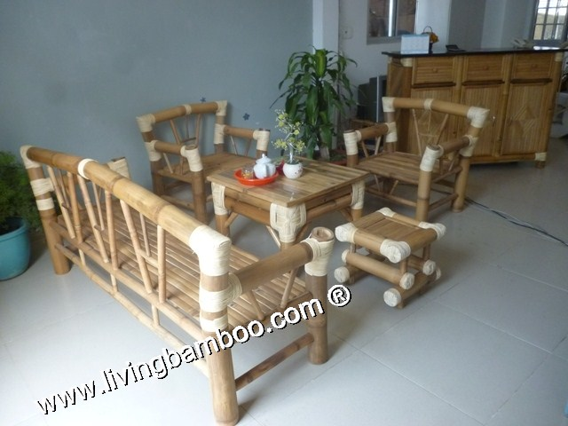 Bamboo Living Room-CUPERTINO STONE LIVING SET