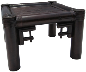 Bamboo Stool-CHAU DOC STOOL BLACK COLOR