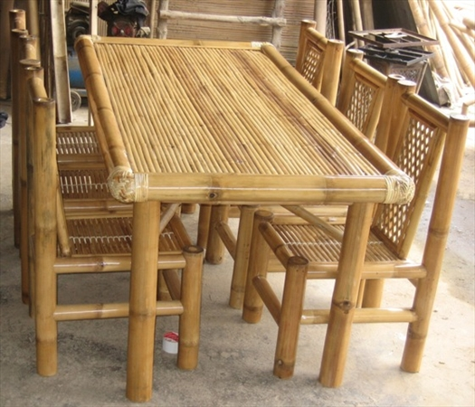 Bamboo Dining Room-BIG DINING SET