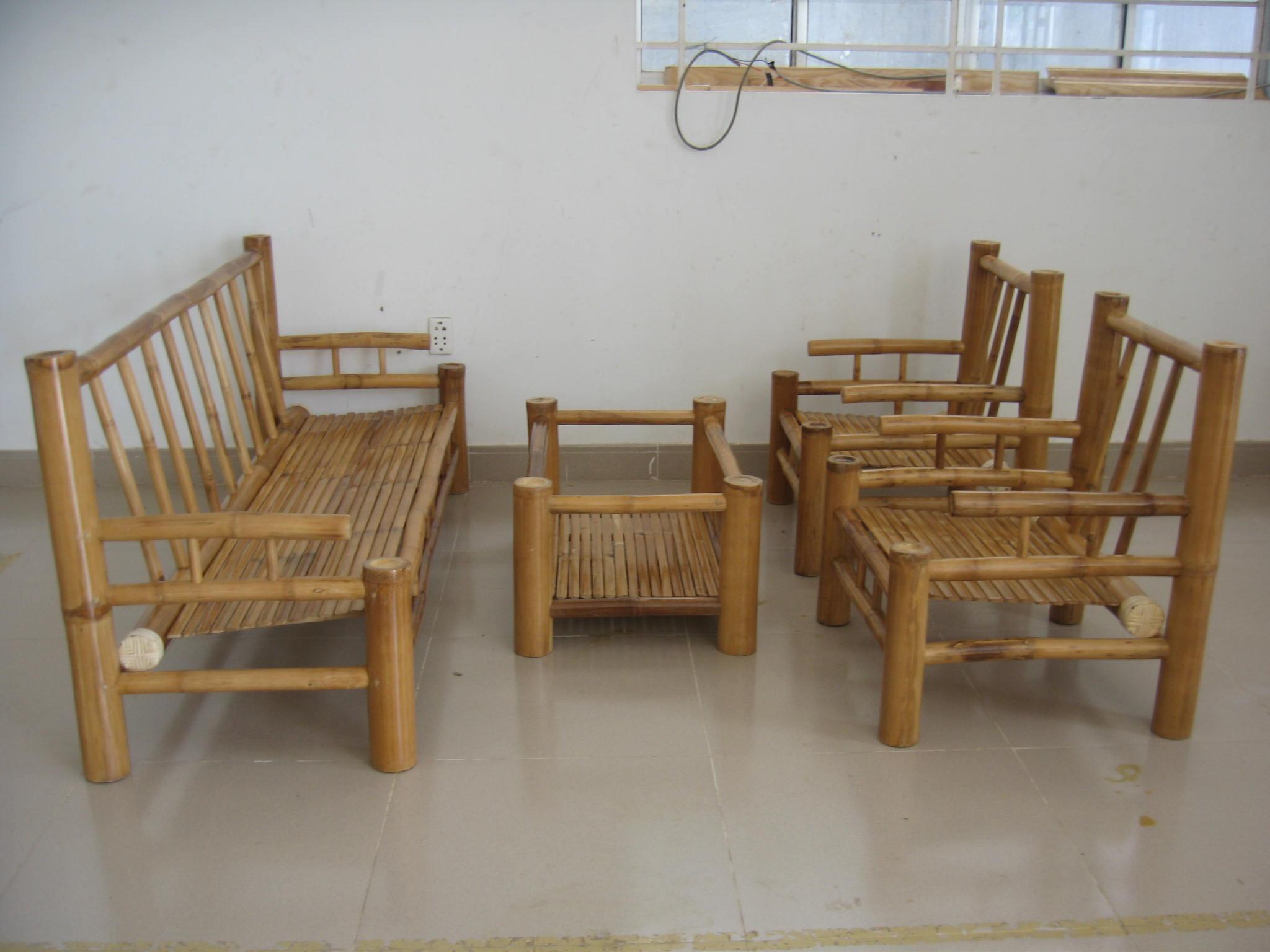 Gentil Bamboo Dining Set NAPOLI SET