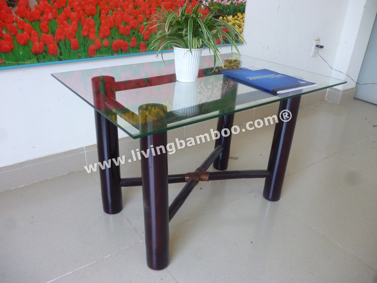 Bamboo Table-BIG BAMBOO & GLASS