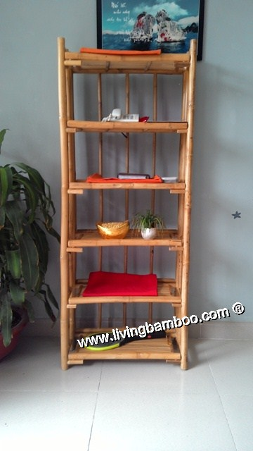 Bamboo Shelf-SEATTLE 6 FLOOR SHELF