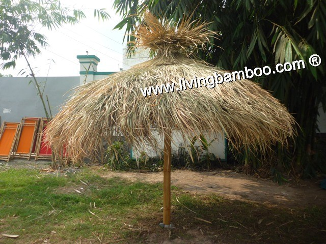 Bamboo Umbrella-THATCH BEACH UMBRELLA