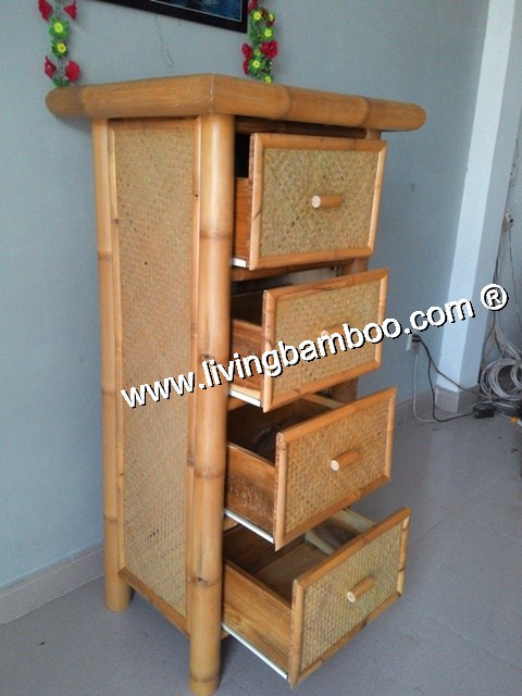 Bamboo Cabinet-4 OR 7 DRAWERS BAMBOO CABINET