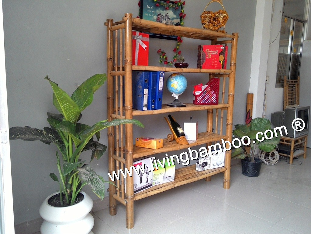 Bamboo Shelf-BAMBOO BOOK SHELF
