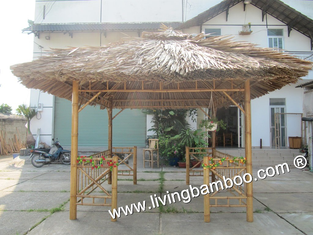 Bamboo Gazebo-KEY WEST SQUARE GAZEBO