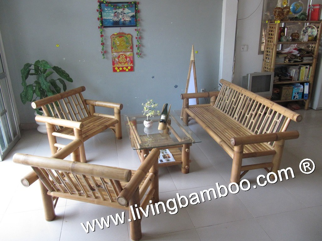 Bamboo Living Room-TIAGO LIVING SET